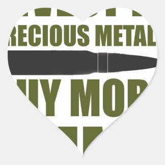 Pegatina En Forma De Corazón Compre más munición, inviértala en metal