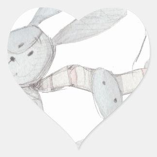 Pegatina En Forma De Corazón conejos