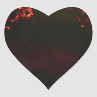 Pegatina En Forma De Corazón cono volcánico llano