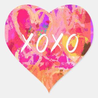 Pegatina En Forma De Corazón Corazón de la tarjeta del día de San Valentín de