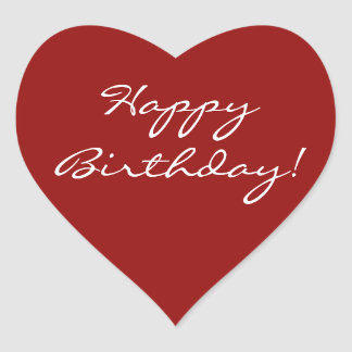 Pegatina En Forma De Corazón Corazón del feliz cumpleaños