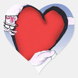 Pegatina En Forma De Corazón corazón principal de Carolina del Norte, fernandes