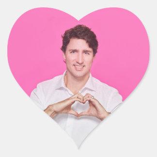 Pegatina En Forma De Corazón Corazón Trudeau Stricker