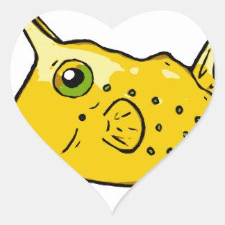 Pegatina En Forma De Corazón Cowfish del fonolocalizador de bocinas grandes