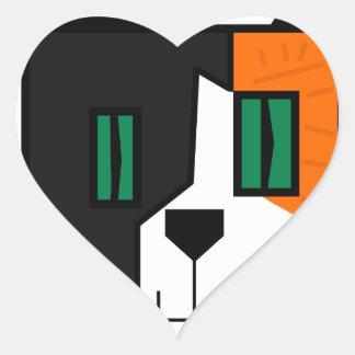 Pegatina En Forma De Corazón CuboCat - Razi