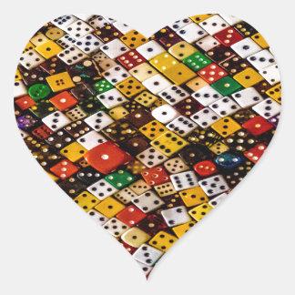Pegatina En Forma De Corazón Dados