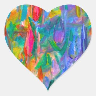 Pegatina En Forma De Corazón Descensos del color