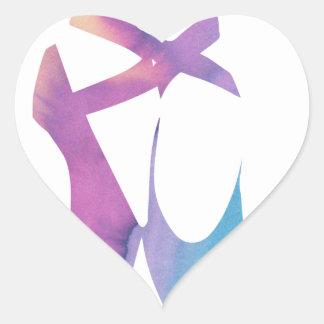 Pegatina En Forma De Corazón Deslizadores de Releve 1