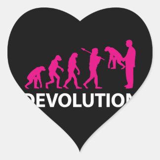 Pegatina En Forma De Corazón Devolution Evolution Funny Reissue