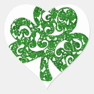 Pegatina En Forma De Corazón día de los patricks del st