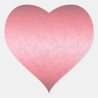 Pegatina En Forma De Corazón Día de San Valentín