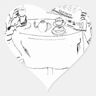 Pegatina En Forma De Corazón Dibujo animado de conmutación 1098