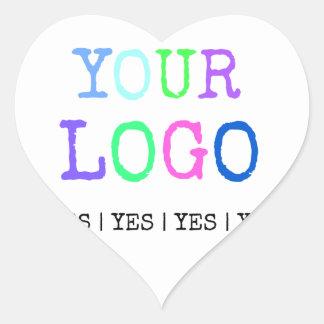 Pegatina En Forma De Corazón Diseñe su propio logotipo personalizado