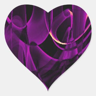 Pegatina En Forma De Corazón Diseño reciclado del arte del humo