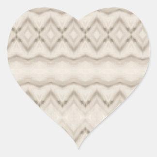 Pegatina En Forma De Corazón Diseño tribal del modelo de zigzag de la pluma