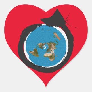 Pegatina En Forma De Corazón Diseños planos de la tierra - OBRA CLÁSICA del