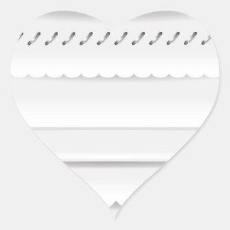 Pegatina En Forma De Corazón divisores fijados