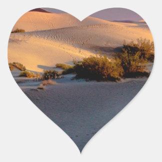 Pegatina En Forma De Corazón Dunas de arena planas del Mesquite Death Valley