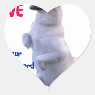 Pegatina En Forma De Corazón El amor es una palabra legged cuatro