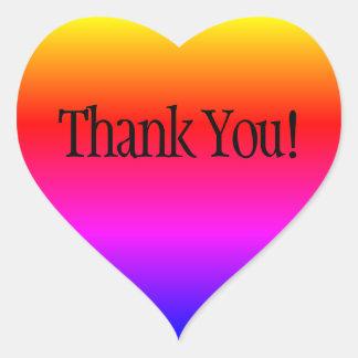 Pegatina En Forma De Corazón El arco iris Ombre le agradece