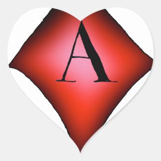 Pegatina En Forma De Corazón El as de diamantes de Tony Fernandes