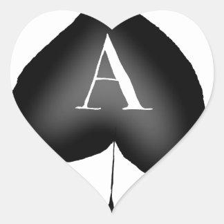 Pegatina En Forma De Corazón El as de espadas de Tony Fernandes