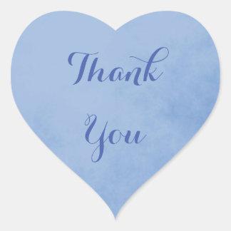 Pegatina En Forma De Corazón El azul le agradece
