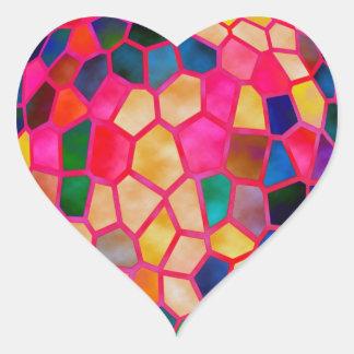 Pegatina En Forma De Corazón El brillar intensamente rojo claro de STBX