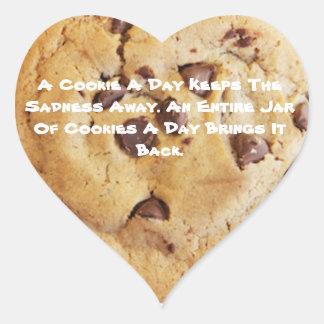 Pegatina En Forma De Corazón El decir de la galleta