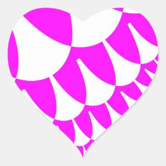 Pegatina En Forma De Corazón El el día de San Valentín escala a los pegatinas