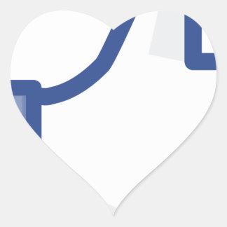 Pegatina En Forma De Corazón ¡el facebook TIENE GUSTO de mí de manosear con los