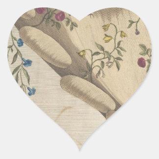 Pegatina En Forma De Corazón El jardín de flores - Matthew Darly