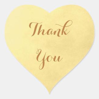 Pegatina En Forma De Corazón El pergamino del oro le agradece