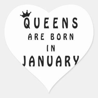 Pegatina En Forma De Corazón El Queens nace en enero