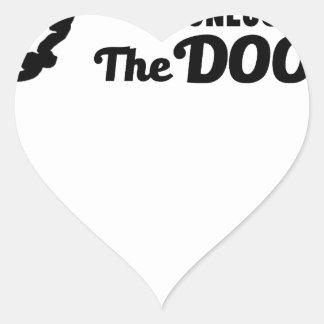 Pegatina En Forma De Corazón El rezo es la llave a todas las puertas