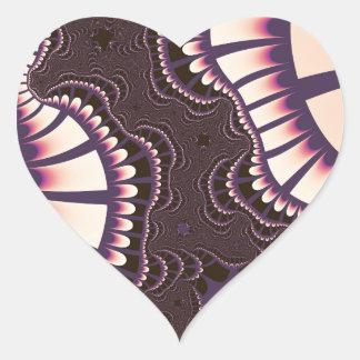 Pegatina En Forma De Corazón El rosa de la lavanda remezcla a los pegatinas del