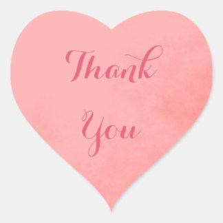 Pegatina En Forma De Corazón El rosa le agradece