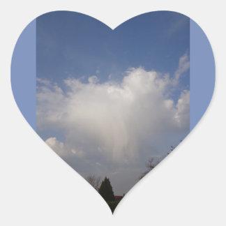 Pegatina En Forma De Corazón El saludo del ángel por la mañana