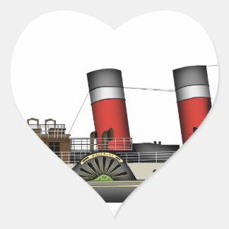 Pegatina En Forma De Corazón El vapor de paleta Waverley de Tony Fernandes