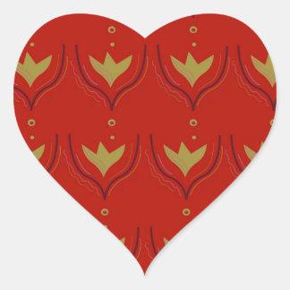 Pegatina En Forma De Corazón Elementos del diseño del oro en marrón