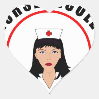 Pegatina En Forma De Corazón Enfermera de Nicole