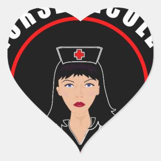 Pegatina En Forma De Corazón Enfermera Nicole