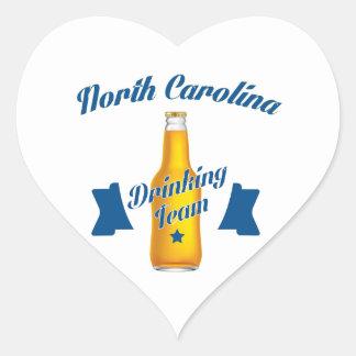 Pegatina En Forma De Corazón Equipo de consumición de Carolina del Norte