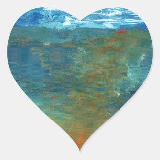 Pegatina En Forma De Corazón Era el mar