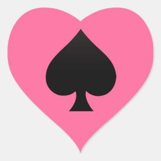Pegatina En Forma De Corazón Espada - juego del icono de las tarjetas