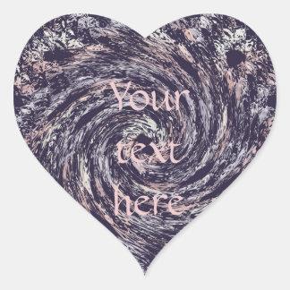Pegatina En Forma De Corazón espiral abstracto texture.text.