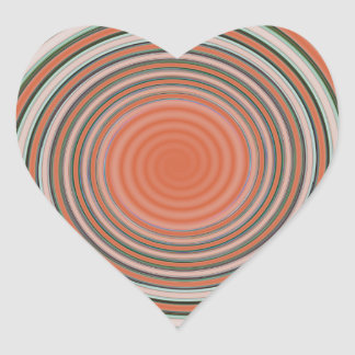 Pegatina En Forma De Corazón Espiral - límite