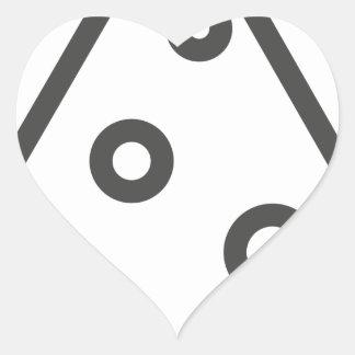 Pegatina En Forma De Corazón Esquema de la pizza