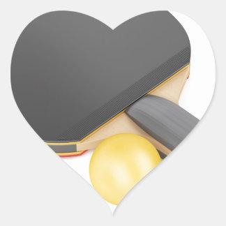 Pegatina En Forma De Corazón Estafa y bola de tenis de mesa