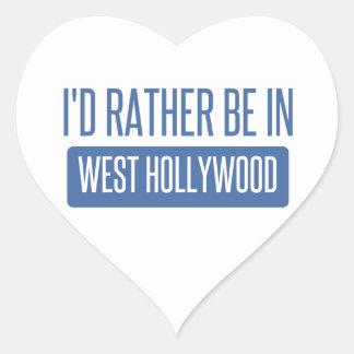 Pegatina En Forma De Corazón Estaría bastante en Hollywood del oeste